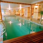 Elegant Indoor Swiming Pools with Wooden Bench