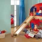 Ergonomic Kids Room with Loft Bed and Slide Kids