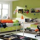 Fresh Green Boy Room with Study Desk