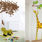 Funny Kids Playroom with Girafe Wall Stickers