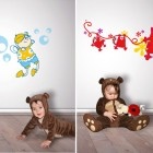Funny Wall Stickers in Baby Nursery Room Design
