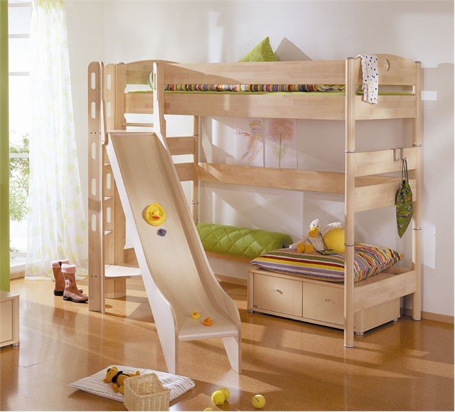 Funy Play Bunk Beds with Kids slide - Interior Design Ideas