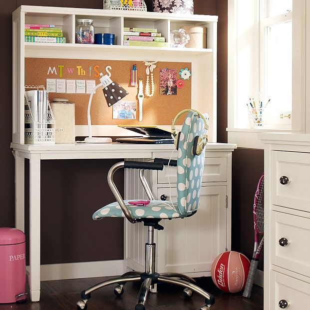 Gorgeous Teen Study with Polka Dot Chairs