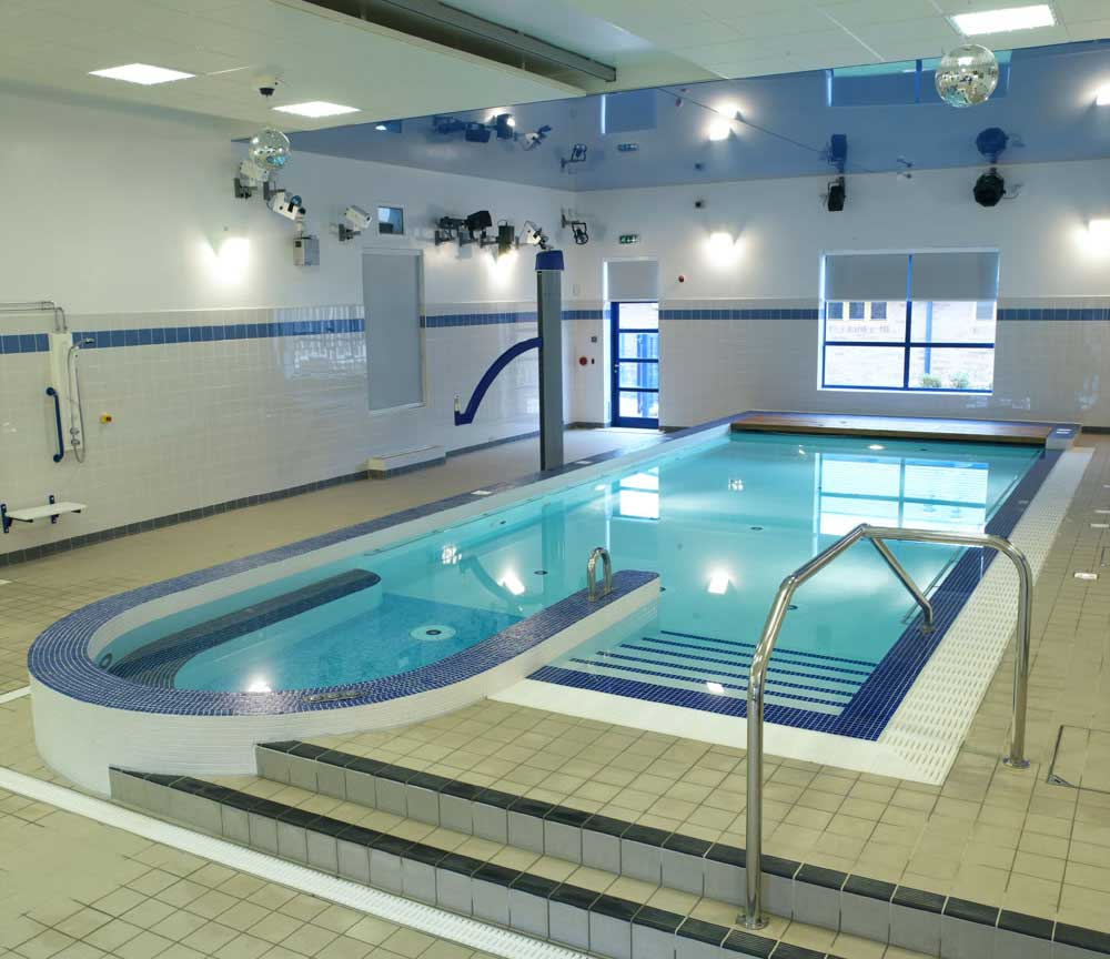 Great Lighitng Indoor Pool Design