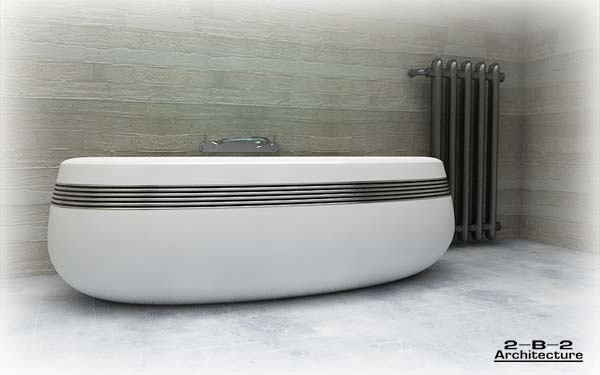Hi-tech Theme Bathtub Design Ideas