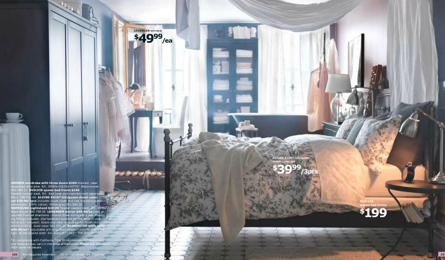 IKEA Antique Bedroom Design with Bathub 2012