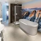 Ice Montain Wall Decor in Modern Bathroom by Eazywallz