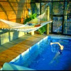 Indoor Small Pools with Hammock Ideas