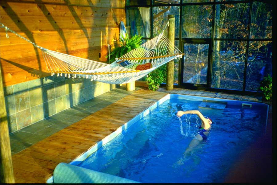 Indoor Small Pools with Hammock Ideas - Interior Design Ideas