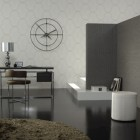 Large Print Grey Wallpaper Deorations by Omexco