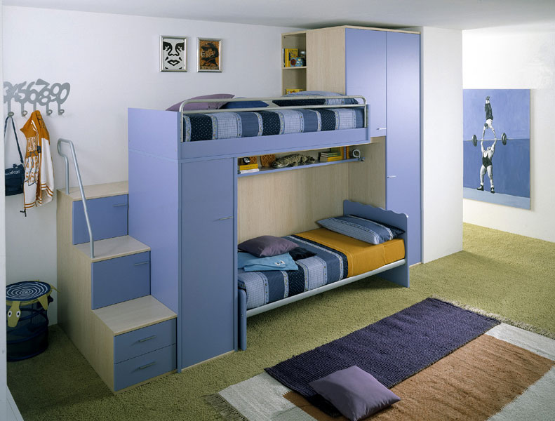 Smart two kids bedroom designs by linead bedroom design for Dormitorio 3x3