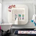 Luxury White Tub in Bedroom