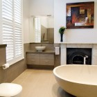 Modern Bathroom with Fire Place