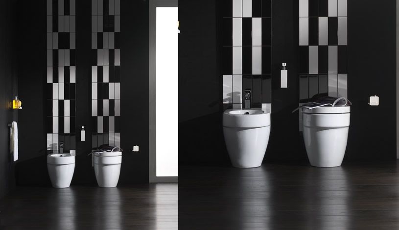 Modern Black American Style Modern Toilets Interior Design Ideas