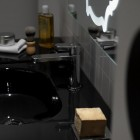 Modern Black Ceramic Sink Detail Pict