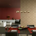 Modern Eco Friendly Earth Tone Wallpaper in Dining Room