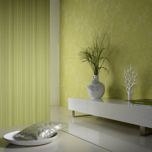 Modern Eco Friendly Wallpaper Yellow Floral Print Design