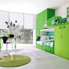 Fresh and Modern Green Kids Bedroom Ideas