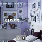 Modern Violet Bedroom with IKEA Photo Frame Decorations
