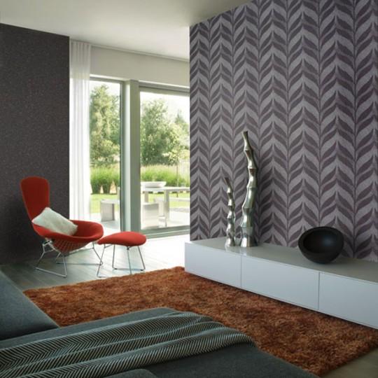 Modern Wall Print Decor With Greay Leaf Design