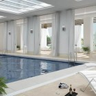 Modern White Indoor Pools Design Ideas