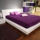 Modern White and Purple Bedroom Design Ideas