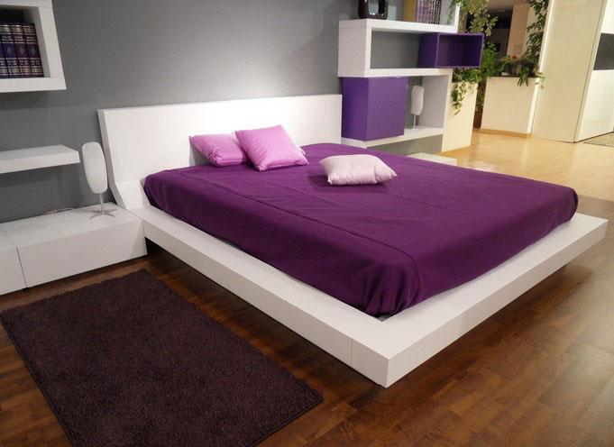 Modern White and Purple Bedroom Design Ideas