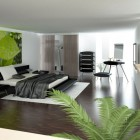 Modern and Elegant Bedrooms with Leaf Pict Decorations