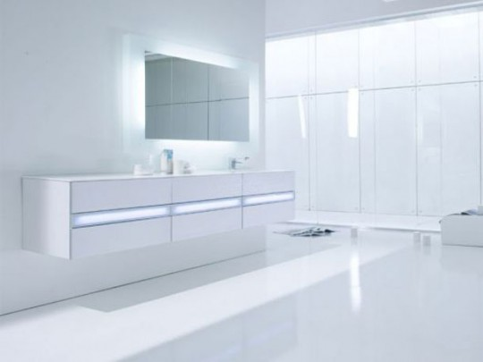 Modern and Hi Tech White Bathroom Inspirations