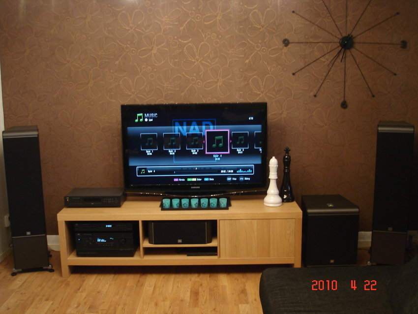 Multimedia Scandinavian Living Room Setups