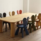 Natural Wooden Furniture in Kids Room for Six Kids