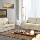 Neutral Sofa Living Room with Modern Lighting Decor