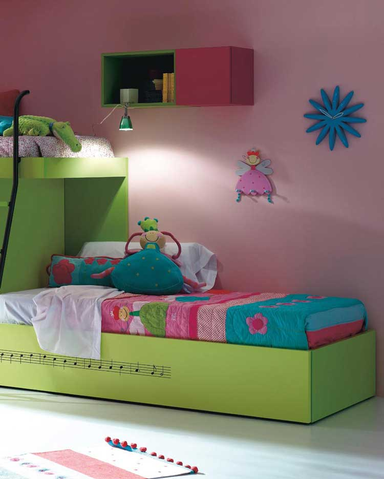 New Girls Furniture and Green Baby Bedding Sets