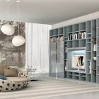New Soft Blue and Grey Shelving Unit Design Ideas