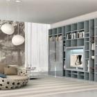 New Soft Blue and Grey Shelving Unit Design Ideas