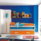 Orange and Blue Sliding Bed for Kids