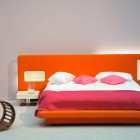 Orange and Pink Low Pad Bed Design
