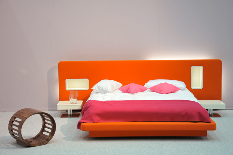 Orange and Pink Main Bedroo Color Ideas
