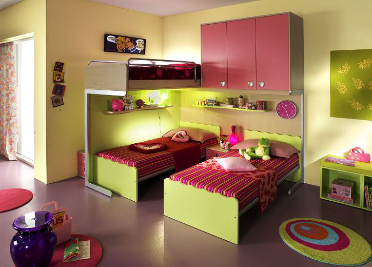 Smart kids bedroom designs for two children bedroom for Children bedroom designs girls