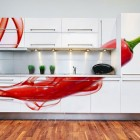 Red Pepper Sticker for Kitchen Cabinet Decorations