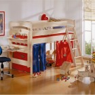 Red and Blue Funny Play Beds for Cool Kids Room Design