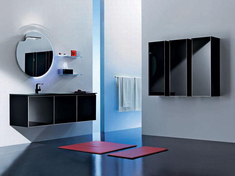 Black bathroom mirrors