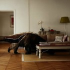 Scandinavian Living Room Style with Wooden Floor and Giant Stuffed