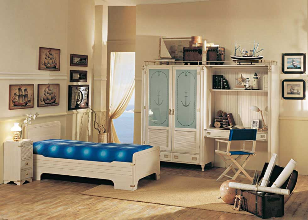 Simple sailor theme bedroom for kids interior design ideas for Simple kids bedroom ideas