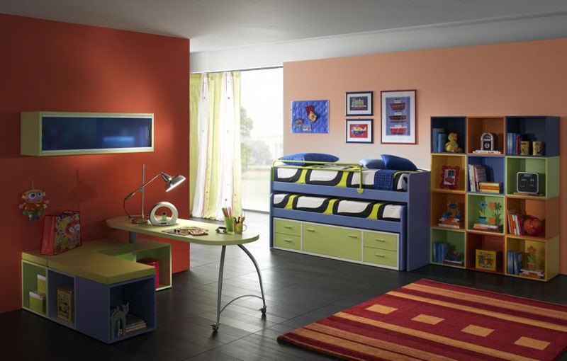 Soft and Comfortable Color Combination for Boys and Girls Room