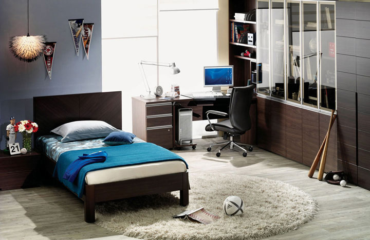 Students Bedroom Furniture with Wood Baseball Bat Ideas
