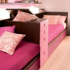 Twin Pink Sofa Beds Separate Storage Furniture