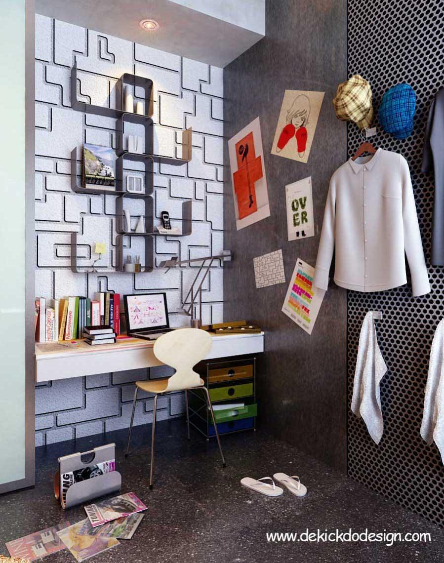Urban Teen Study Desk Design Inspirations