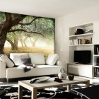 Wall Sticker Landscape Trees Living Room Ideas