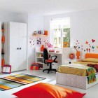 White Bedroom Design for Kids